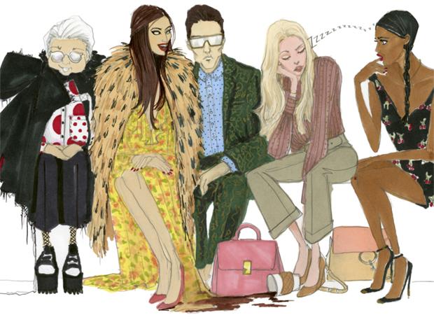 Иллюстрированный гид: как выглядят главные персонажи недель моды-320x180