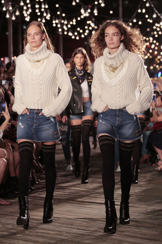 Показ Томми Хилфигера на неделе моды в Нью-Йорке