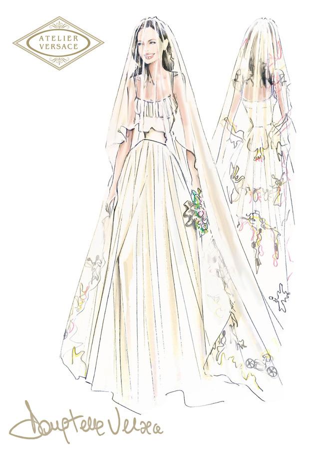 Свадебное платье Анджелины Джоли