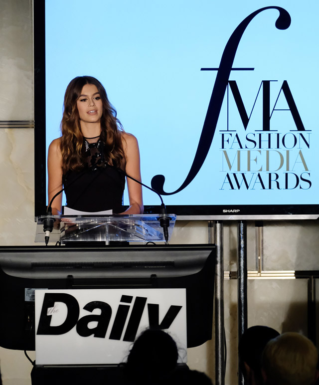 Кайя Гербер на церемонии Fashion Media Awards