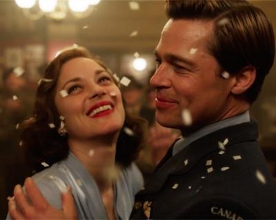 Любовь во время войны: Брэд Питт и Марион Котийяр в новом трейлере фильма «Союзники»-430x480