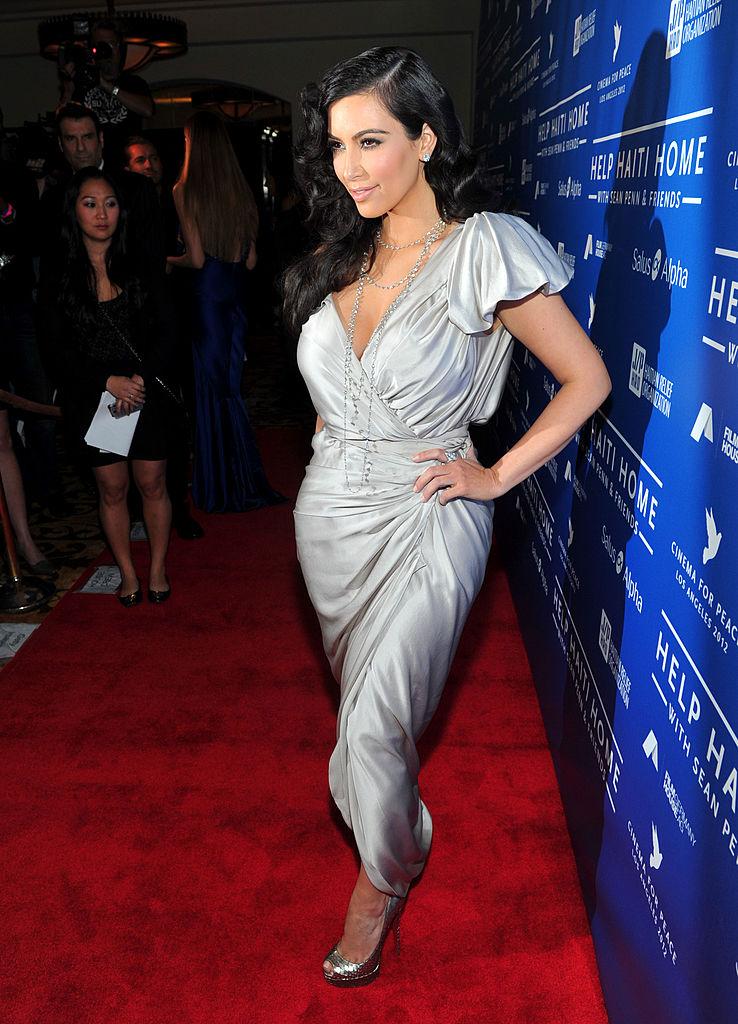 Ким Кардашьян в обуви Christian Louboutin