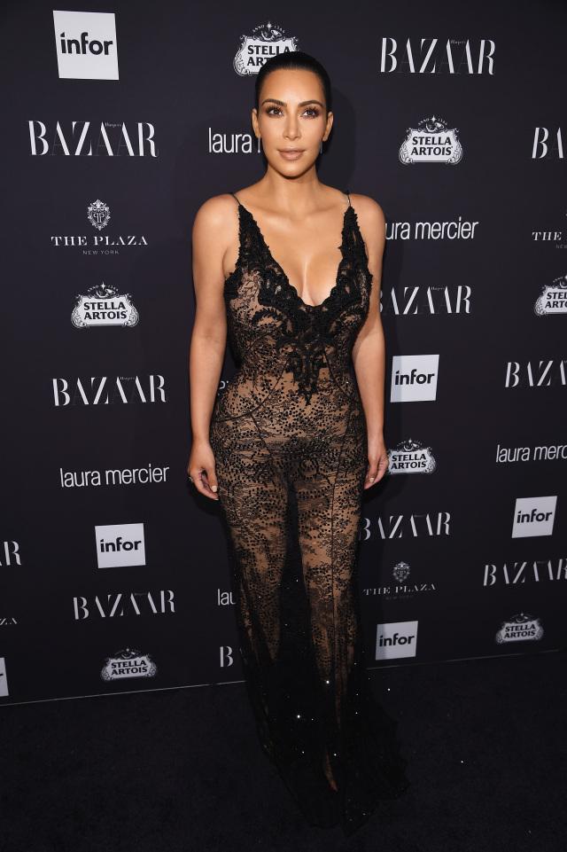 Ким Кардашьян на Harper's Bazaar Icons