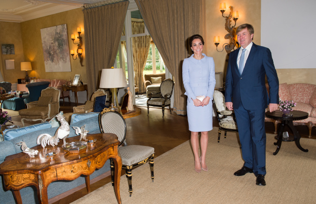 Кейт Миддлтон с королем Нидерландов Виллемом-Александром
