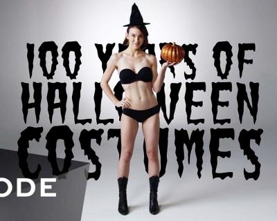ВИДЕО: столетняя эволюция женского костюма на Хэллоуин за три минуты-430x480