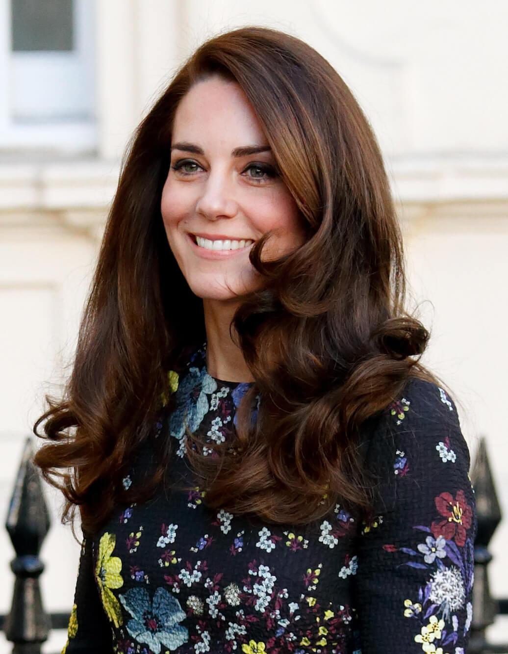 Герцогиня Кембриджская в платье Erdem на благотворительном брифинге
