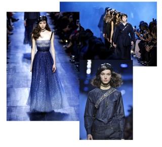 Все оттенки синего: Dior AW'17
