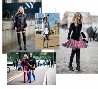 Street style тренд: ботфорты