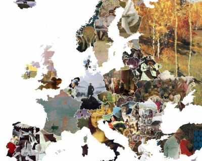 Опубликована художественная карта Европы-430x480