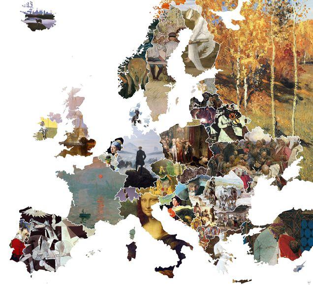 Опубликована художественная карта Европы-320x180