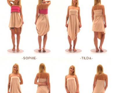 Платье-трансформер одесского бренда позволяет создать более 20 образов-430x480