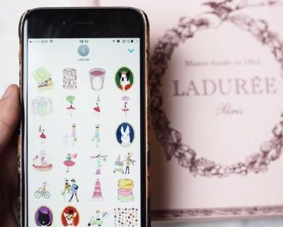 Легендарная кондитерская Ladurée выпустила собственные эмодзи-430x480