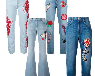 Тренд сезона: джинсы с вышивкой-430x480
