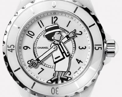 Вещь дня: часы Chanel с Коко Шанель на циферблате-430x480