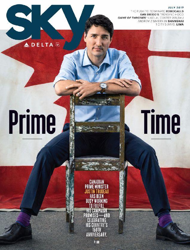 Джастин Трюдо впервые украсил обложку журнала-320x180