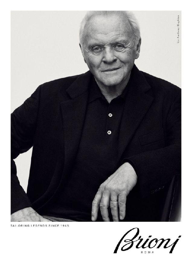 79-летний Энтони Хопкинс снялся в рекламной кампании Brioni-320x180