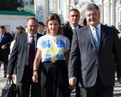 Образ дня: Марина Порошенко в блузке молодого украинского бренда-430x480