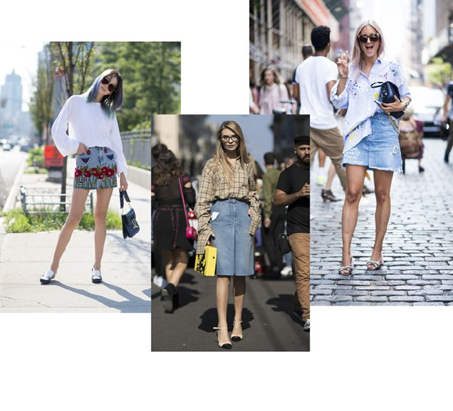 Street style тренд: джинсовая юбка-320x180