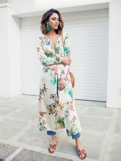 Как носить кимоно: идеи от модных блогеров