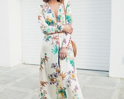 Как носить кимоно: идеи от модных блогеров-430x480