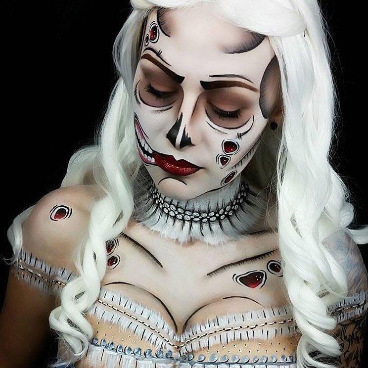 Невероятные идеи для макияжа на Хэллоуин-Фото 2