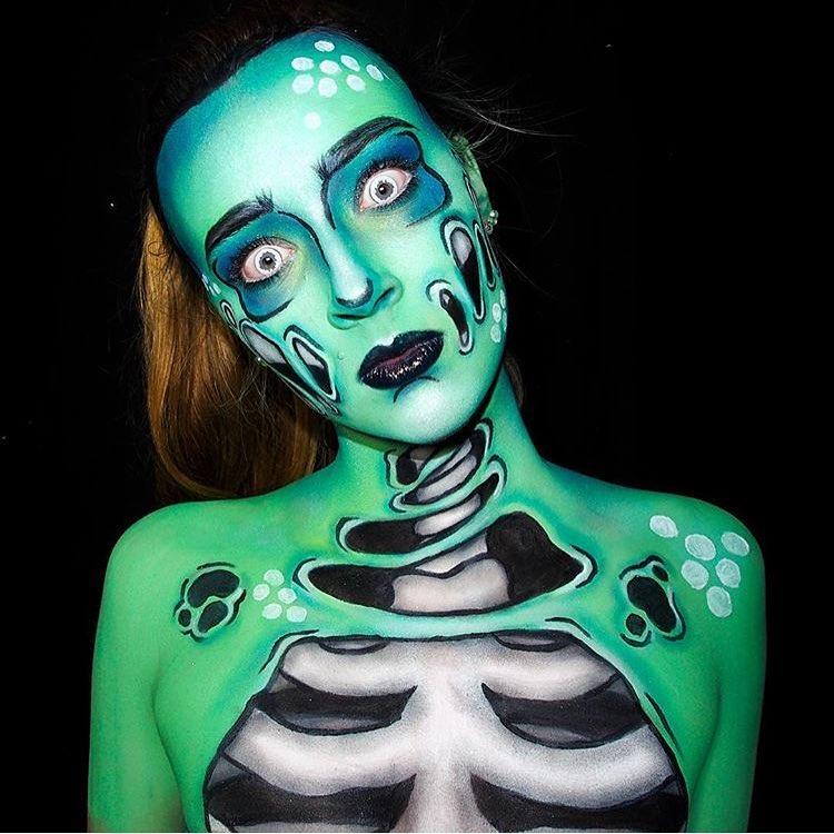 Невероятные идеи для макияжа на Хэллоуин-Фото 9