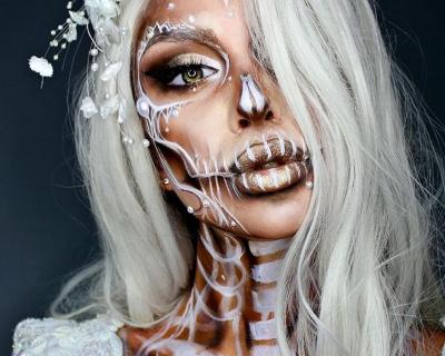 Невероятные идеи для макияжа на Хэллоуин-430x480