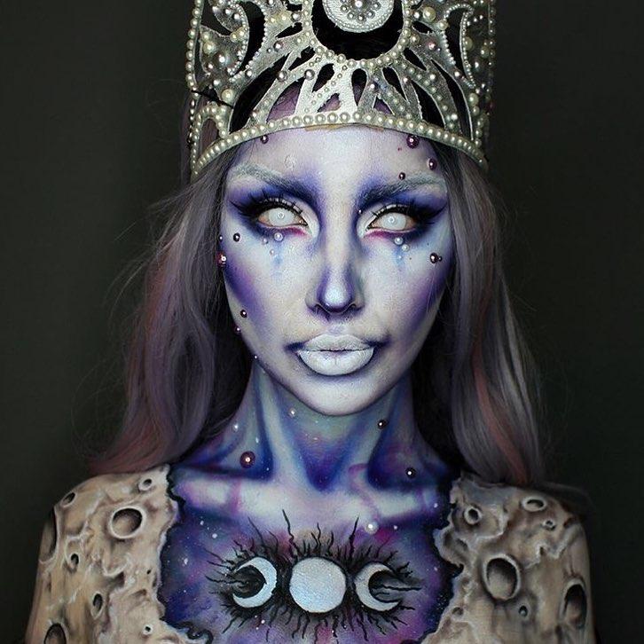 Невероятные идеи для макияжа на Хэллоуин-Фото 14