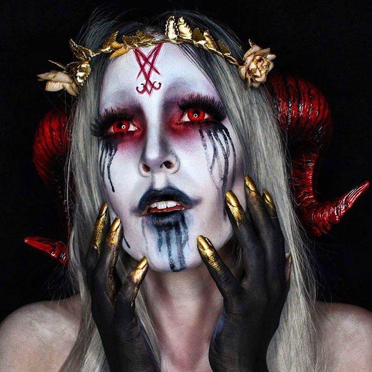 Невероятные идеи для макияжа на Хэллоуин-Фото 15