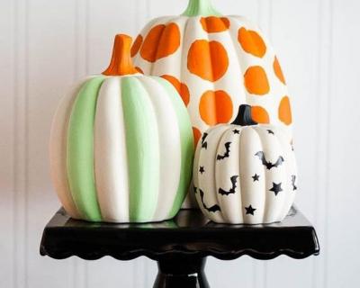 Несколько необычных способов украшения тыквы на Хэллоуин-430x480