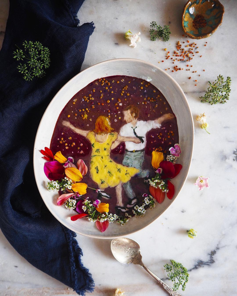 Instagram дня: Художница рисует картины из смузи на завтрак-Фото 1