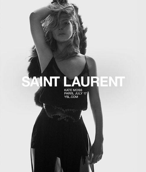Кейт Мосс стала лицом Saint Laurent-Фото 3