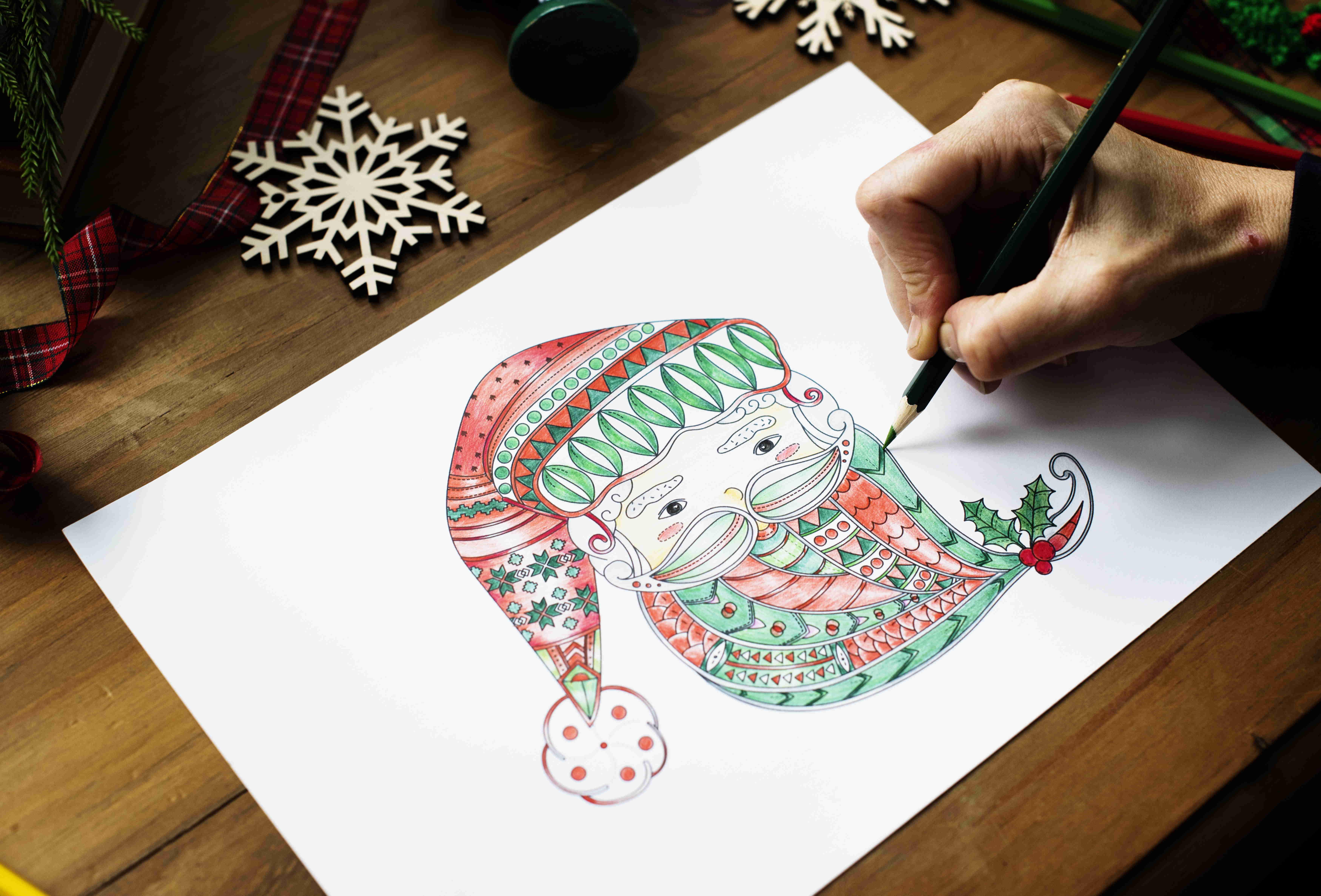 Какой можно узор нарисовать на открытке новогодней