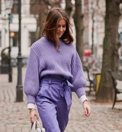 Зимняя классика: как носить свитер oversize-430x480