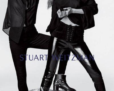 Кейт Мосс и Джиджи Хадид в новой рекламной кампании Stuart Weitzman-430x480