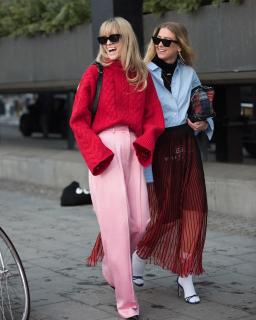 Широкие брюки зимой: с чем сочетать и под что носить