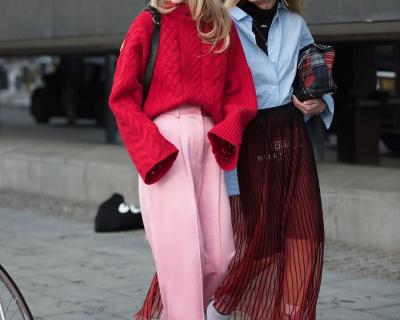 Широкие брюки зимой: с чем сочетать и под что носить-430x480