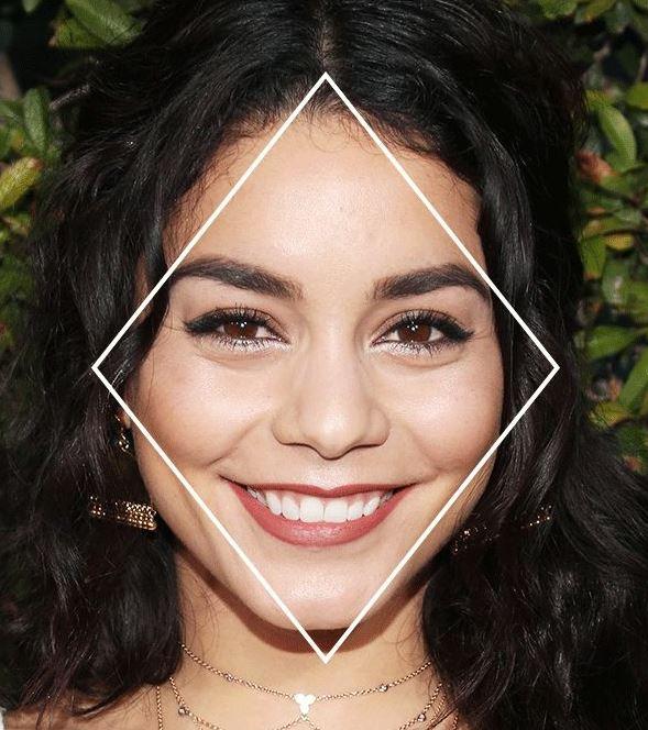 Как определить форму лица: форма лица бриллиант