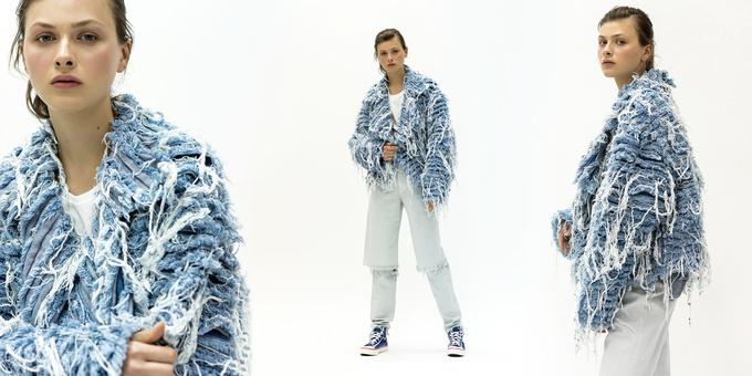 Ksenia Schnaider джинсовый мех