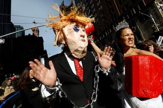 В США прошел второй «Марш женщин» против Трампа