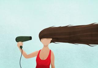 8 секретов, как правильно сушить волосы феном