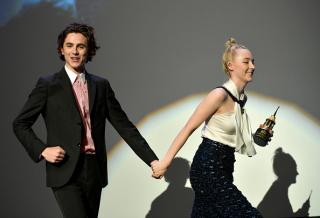 Тимоти Шаламе и Сирша Ронан на Международном кинофестивале в Санта-Барбаре