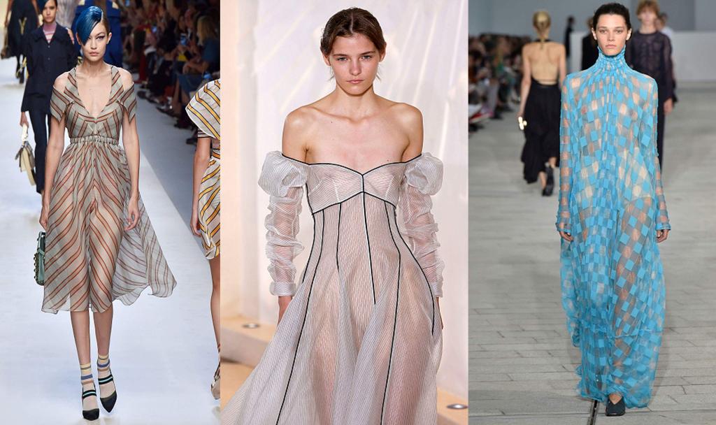 Прозрачные платья фото