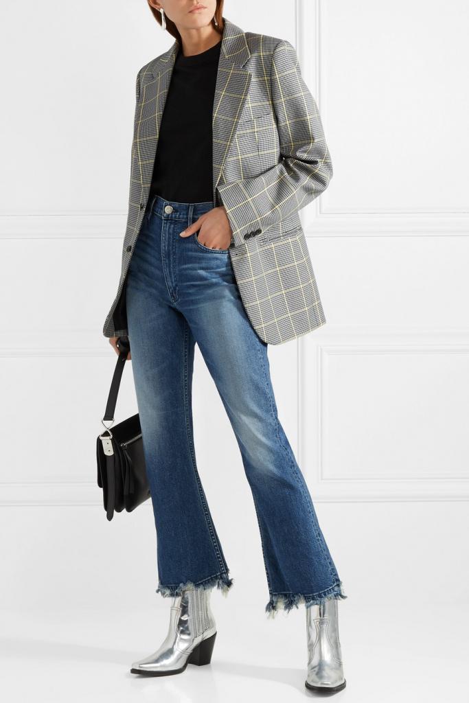 укороченные джинсы с чем носить