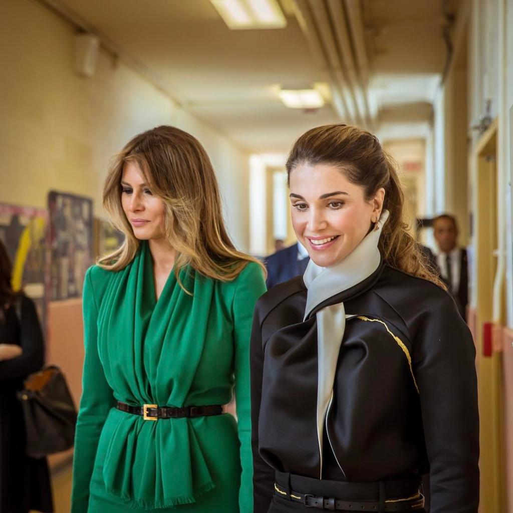 Королева Рания и Мелания Трамп