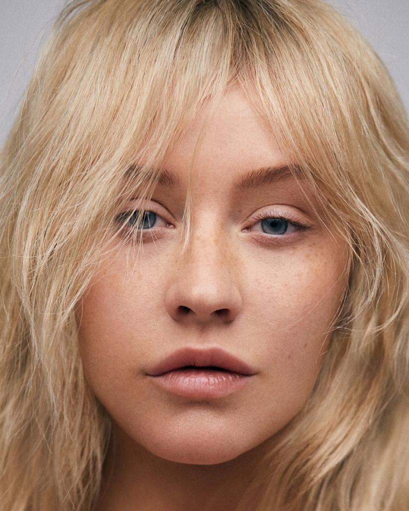 Кристина Агилера без макияжа