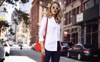 Согласно Instagram: Офисные образы с белой рубашкой