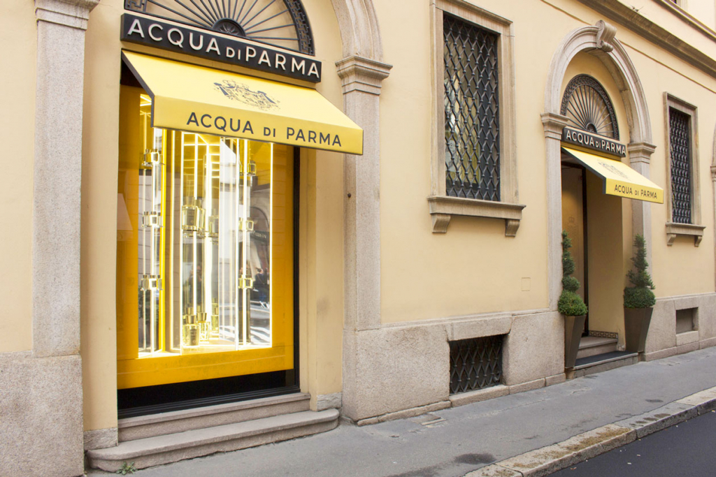 Бутик и барбершоп Acqua Di Parma в Милане