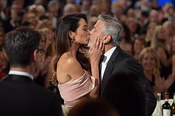 Звездный поцелуй: Джордж и Амаль Клуни не скрывали своих чувств-Фото 2