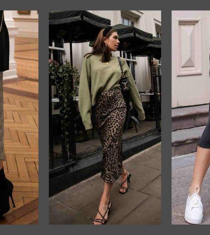 Как носить юбку-миди: 10 идей из Instagram-430x480